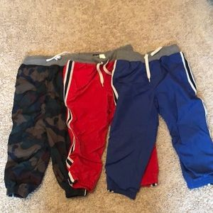 Lined warm up pants